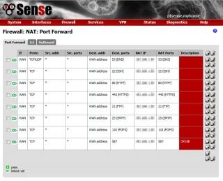 pfsense NATの設定