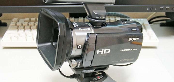 HDR-CV550Vレンズフード装着図