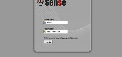 pfsense2.0.1 ログイン画面