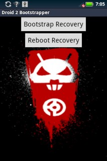 Droid2 bootstrap recovery