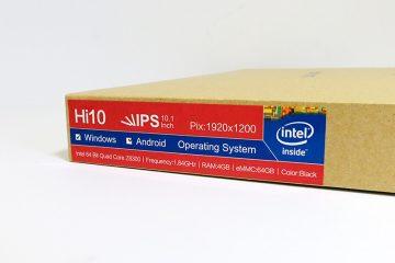 CHUWI Hi10 Ultrabook Tablet PC スペックラベル